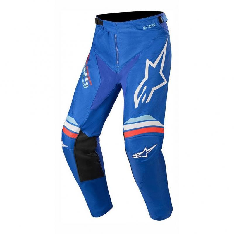 Pantalon cross Alpinestars Racer Braap blue off white