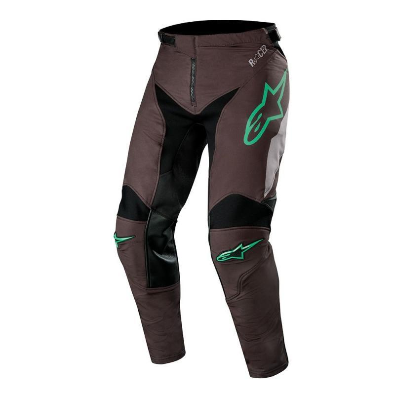 Pantalon cross Alpinestars Racer Compass noir/mid gray/teal