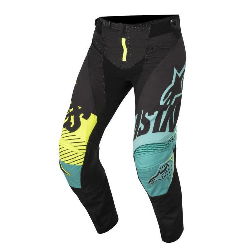 Pantalon cross Alpinestars Techstar Screamer noir/turquoise/jaune fluo