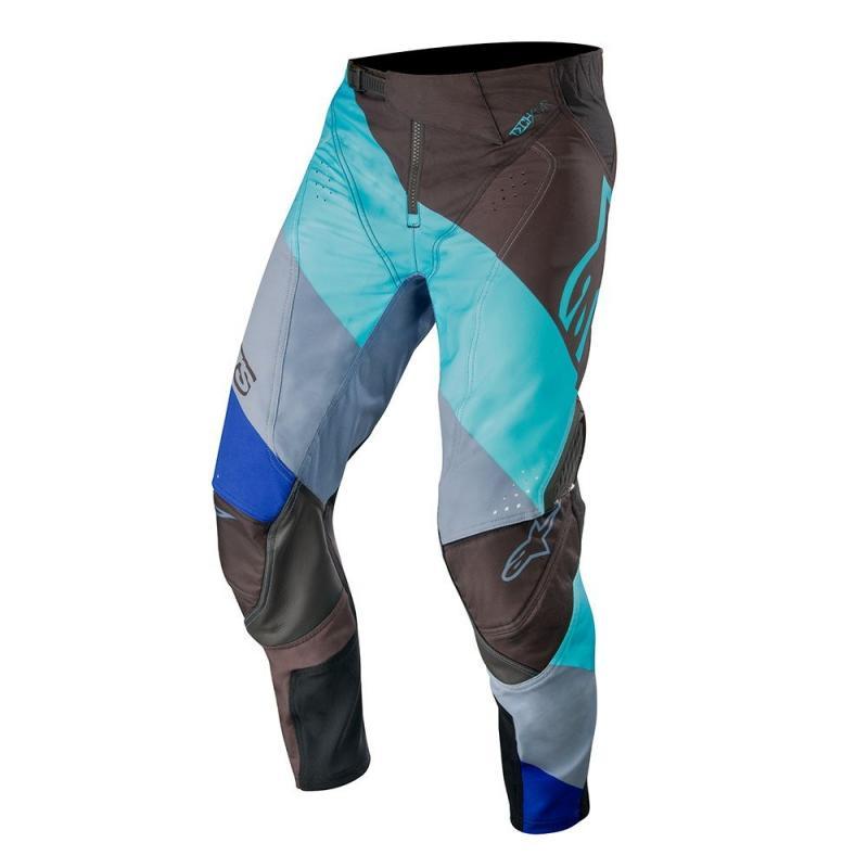 Pantalon cross Alpinestars Techstar Venom bleu turquoise/noir