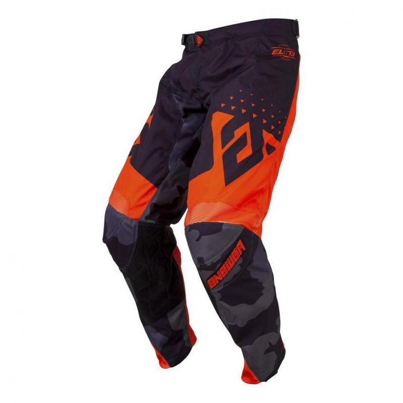 Pantalon cross Answer Elite Discord noir/orange