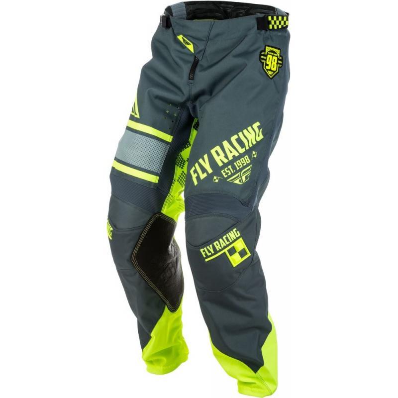 Pantalon cross enfant Fly Racing Kinetic Era jaune fluo/gris