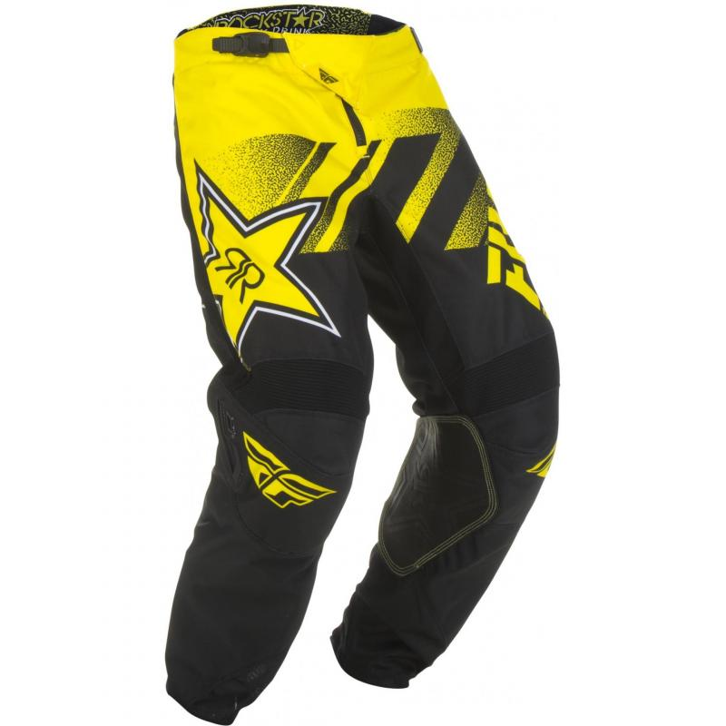 Pantalon cross enfant Fly Racing Kinetic Rockstar jaune/noir