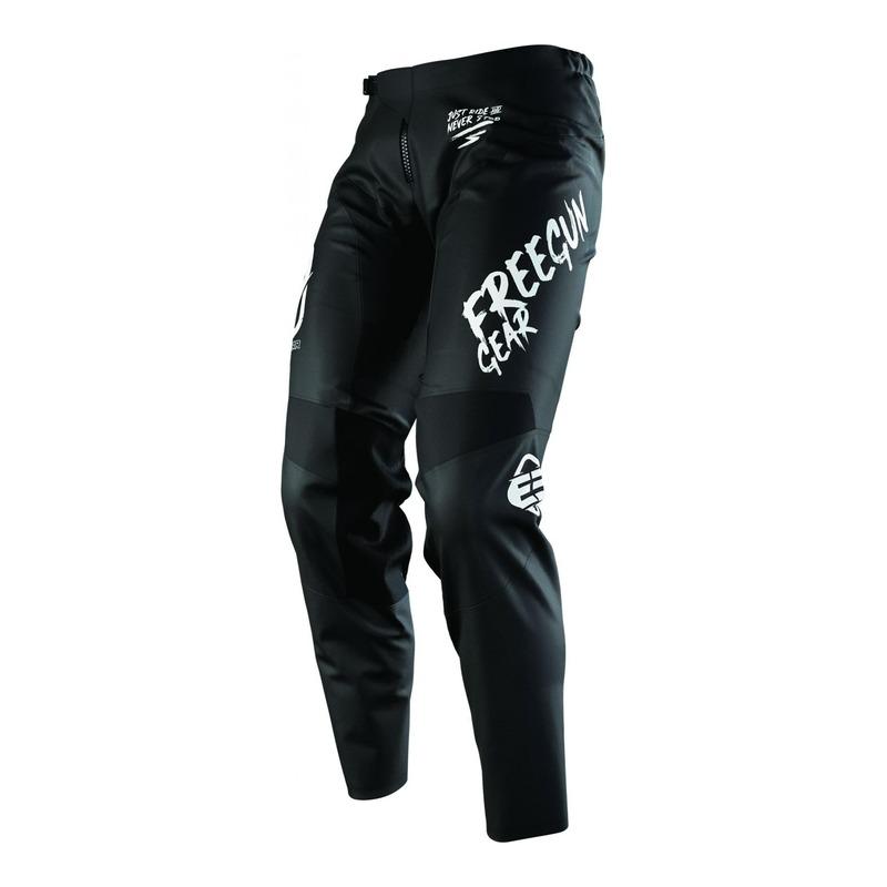 Pantalon cross enfant Freegun Devo Speed Full Black 2.0 noir