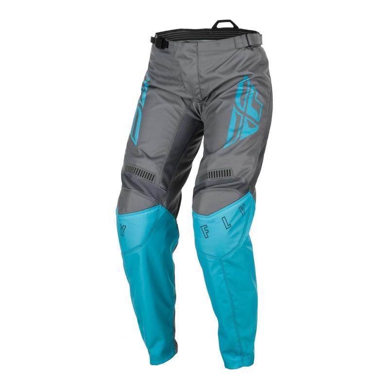 Pantalon cross femme Fly Racing F-16 gris/bleu