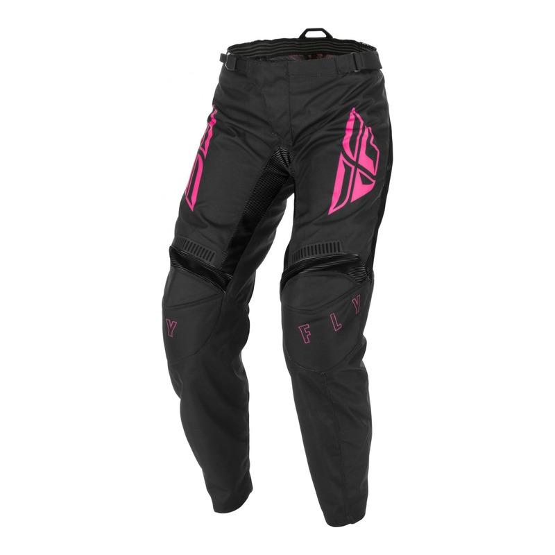 Pantalon cross femme Fly Racing F-16 noir/rose