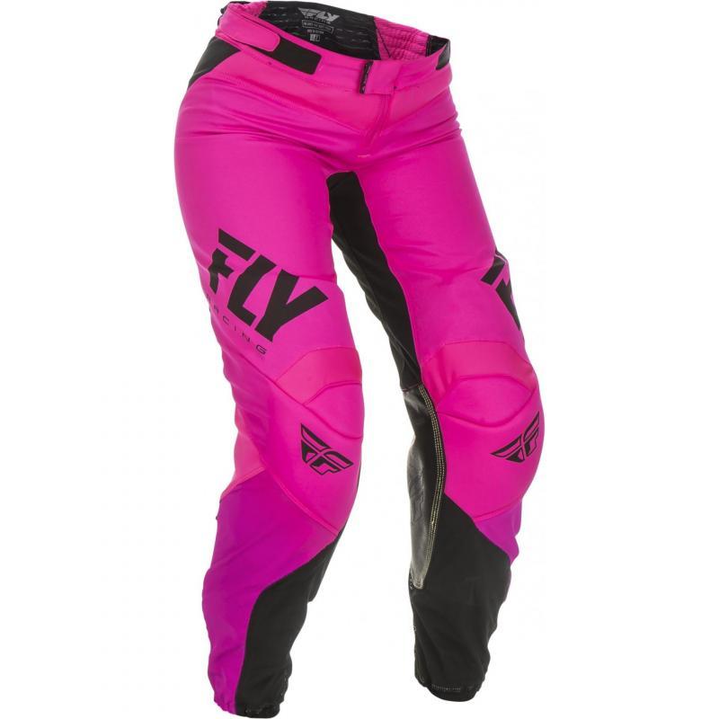 Pantalon cross femme Fly Racing Lite rose/noir