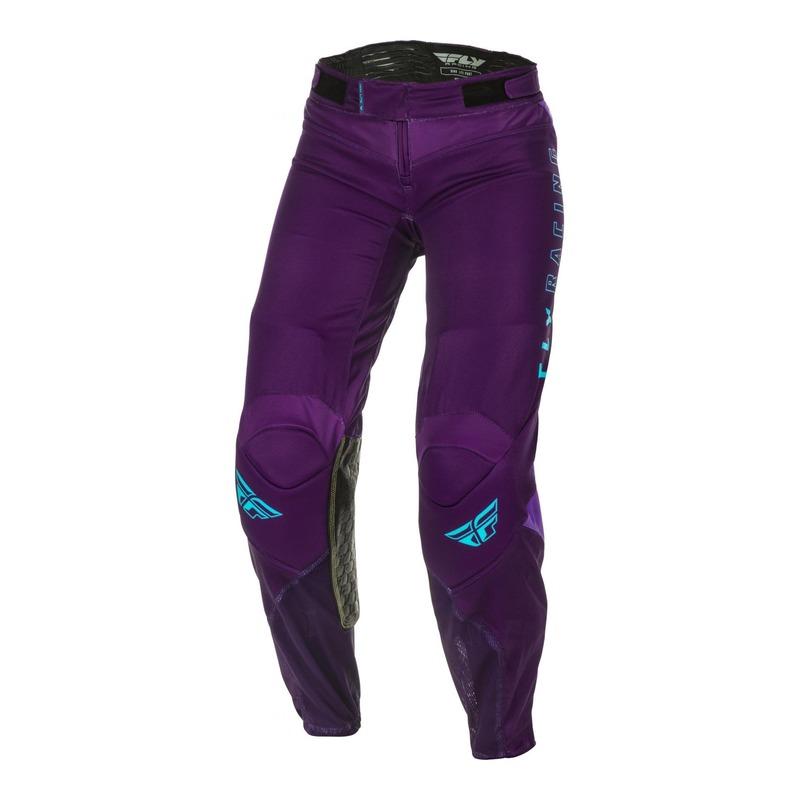 Pantalon cross femme Fly Racing Lite violet/bleu