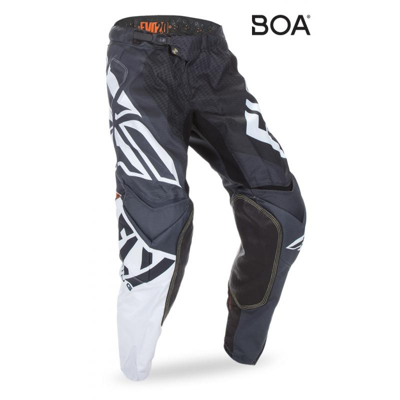 Pantalon cross Fly Racing Evo 2.0 noir/blanc/orange