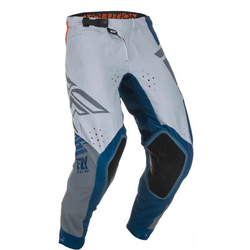 Pantalon cross Fly Racing Evo bleu/gris/orange