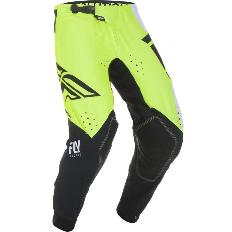 Pantalon cross Fly Racing Evo jaune/noir/blanc