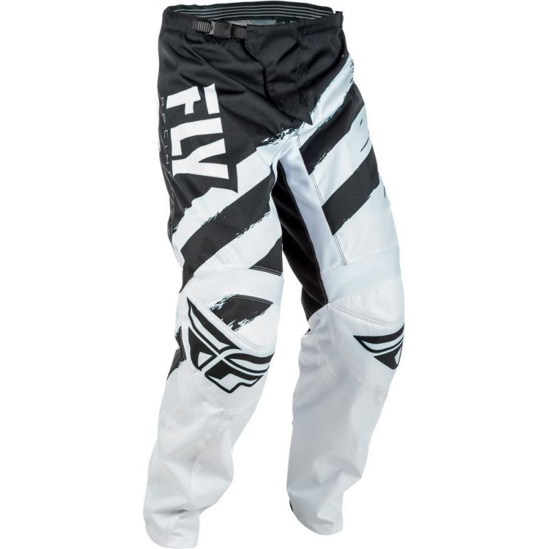 Pantalon cross Fly Racing F-16 noir et blanc