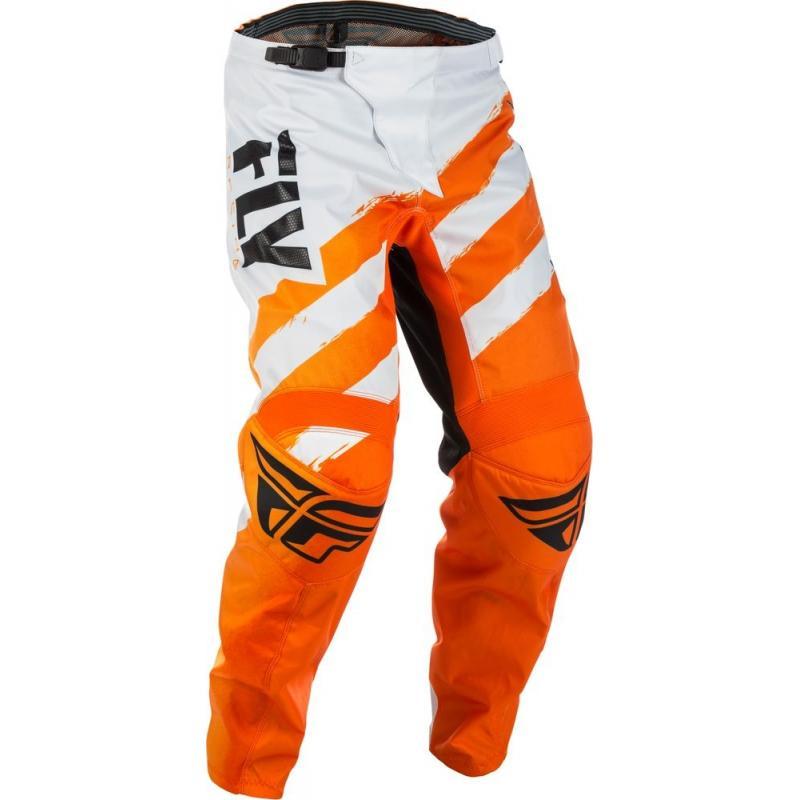 Pantalon cross Fly Racing F-16 orange/blanc