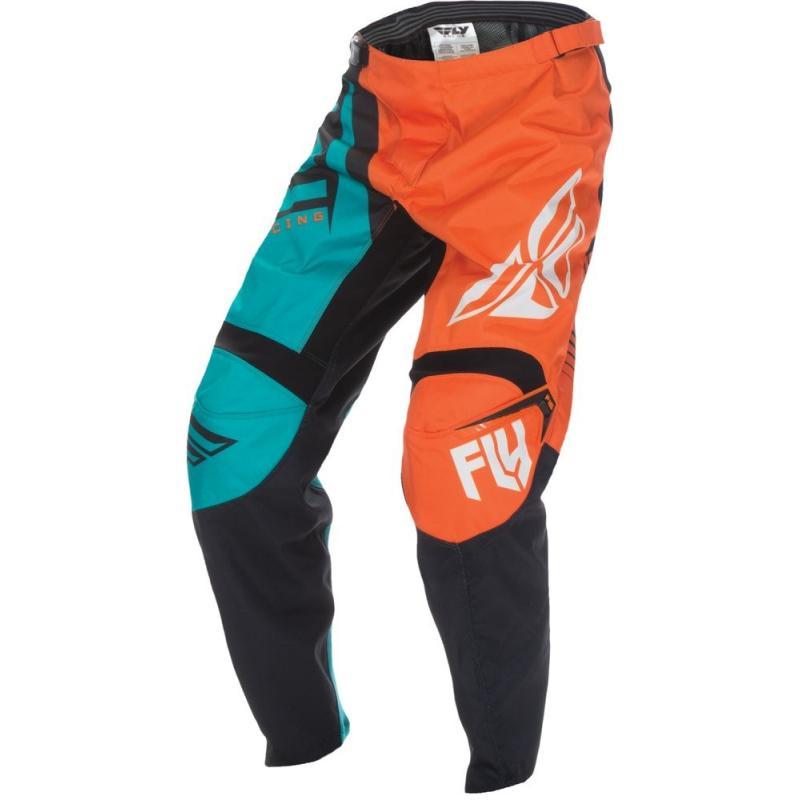 Pantalon cross Fly Racing F-16 orange/bleu