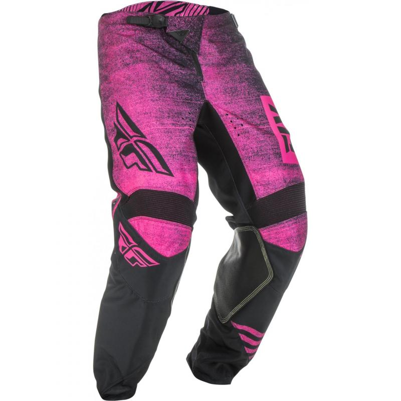 Pantalon cross Fly Racing Kinetic Noiz rose/noir