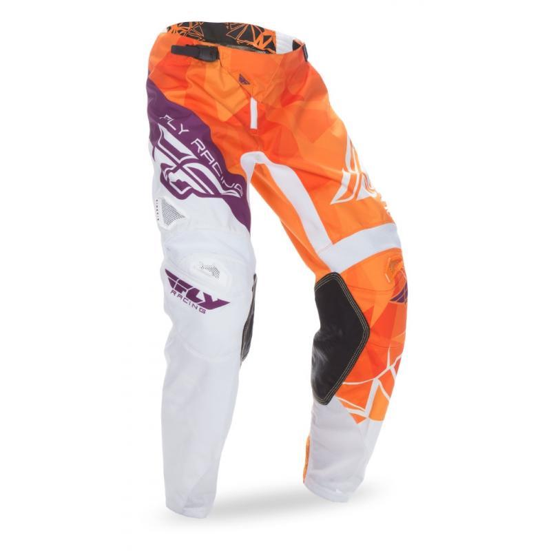 Pantalon cross Fly Racing Kinetic orange/violet