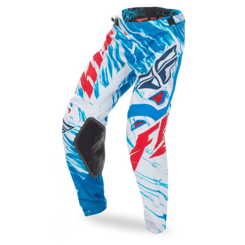 Pantalon cross Fly Racing Kinetic rouge/blanc/bleu