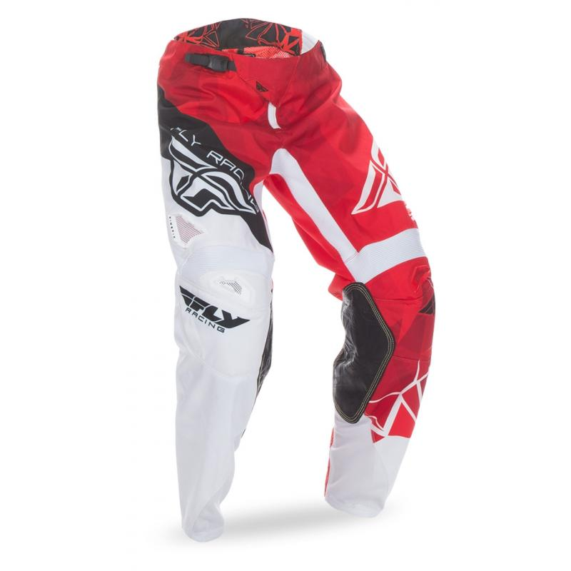 Pantalon cross Fly Racing Kinetic rouge/blanc