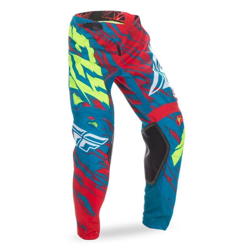Pantalon cross Fly Racing Kinetic rouge/bleu