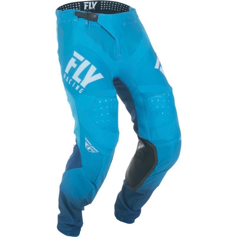 Pantalon cross Fly Racing Lite Hydrogen bleu/blanc