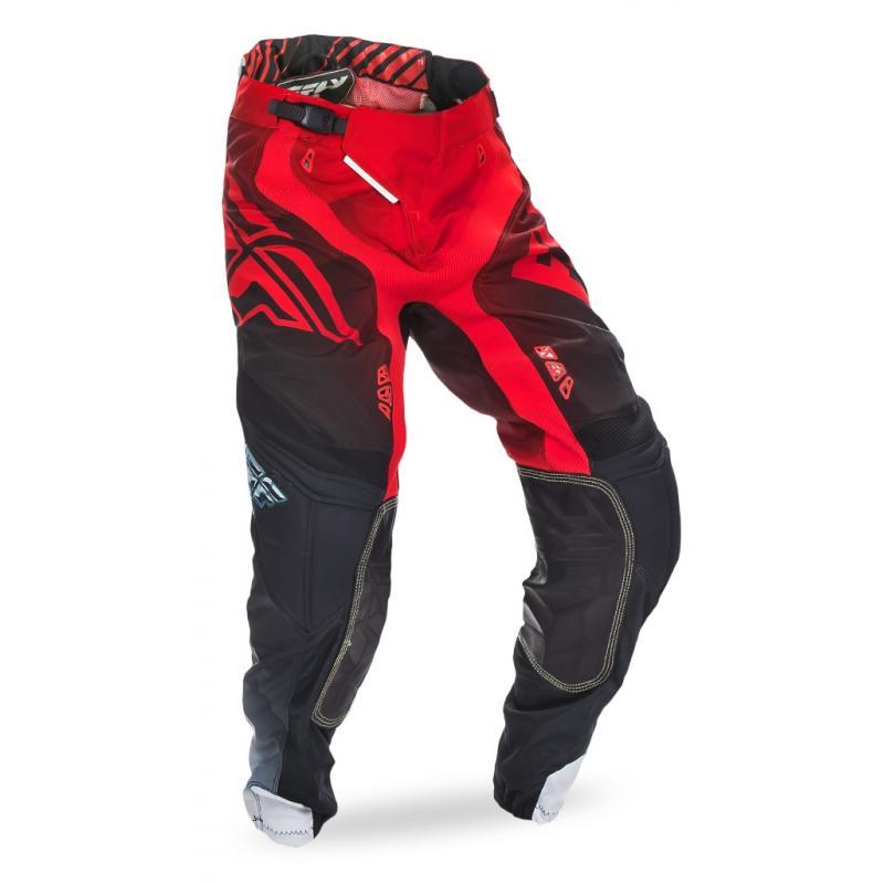 Pantalon cross Fly Racing Lite Hydrogen rouge/noir