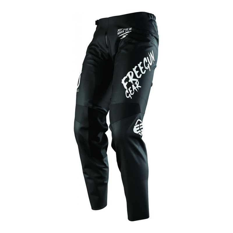 Pantalon cross Freegun Devo Speed Full Black 2.0 noir