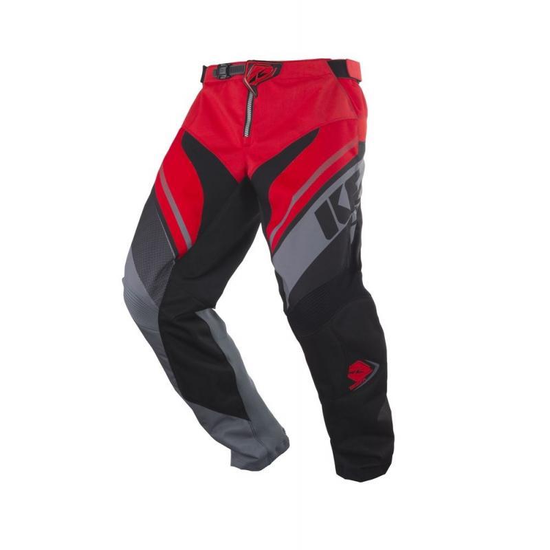 Pantalon cross Kenny Track gris/rouge