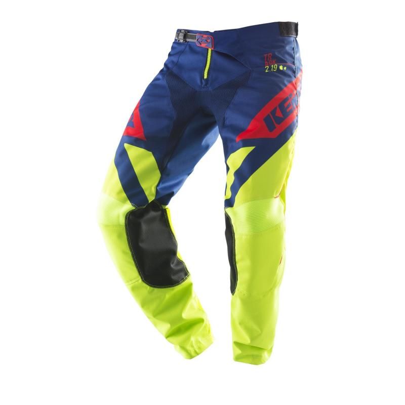 Pantalon cross Kenny Track Lime/navy/red