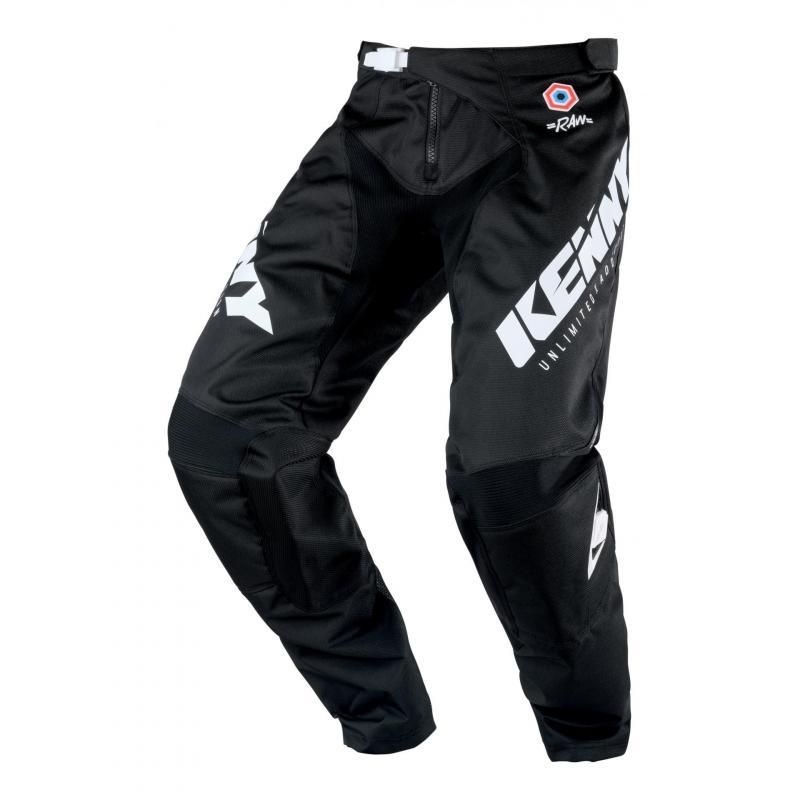 Pantalon cross Kenny Track noir/blanc