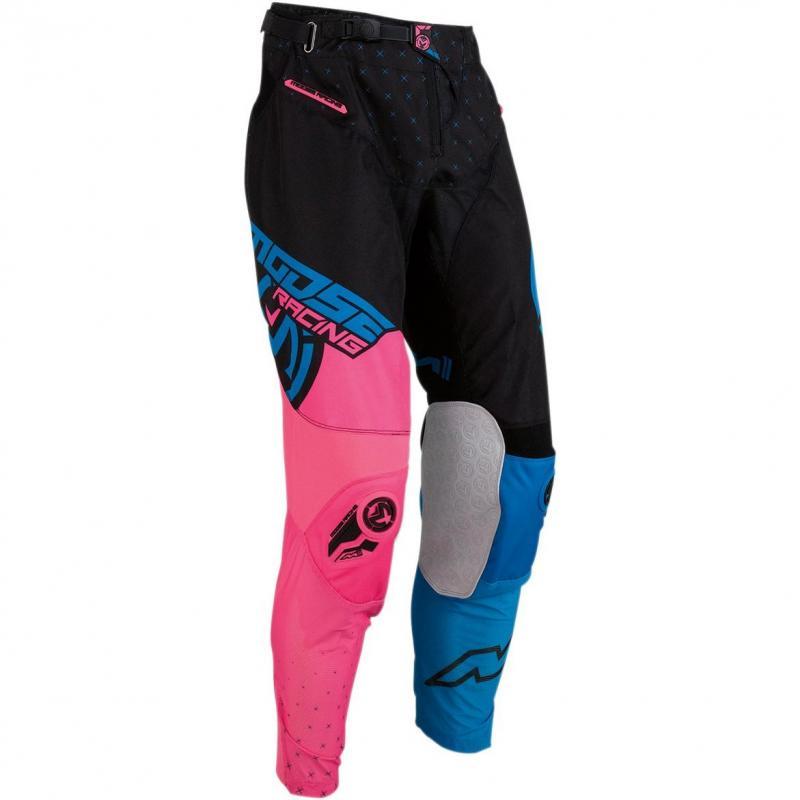 Pantalon cross Moose Racing M1 bleu/rose/noir
