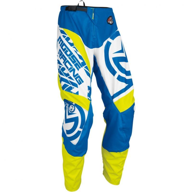 Pantalon cross Moose Racing QUALIFIER bleu/jaune