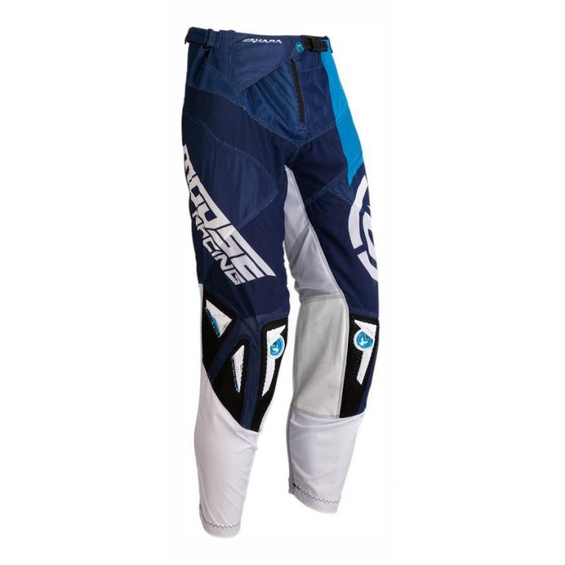 Pantalon cross Moose Racing Sahara blanc/bleu