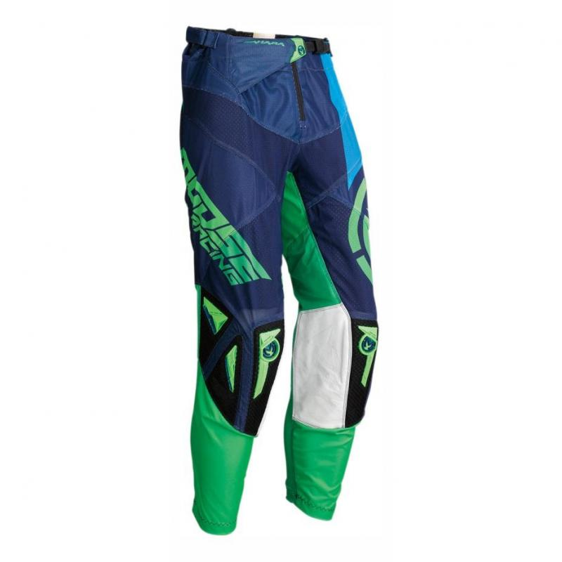 Pantalon cross Moose Racing Sahara vert/marine