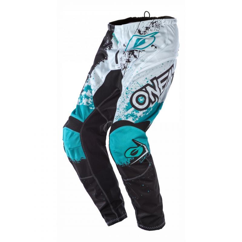 Pantalon cross O'Neal Element Impact noir/turquoise