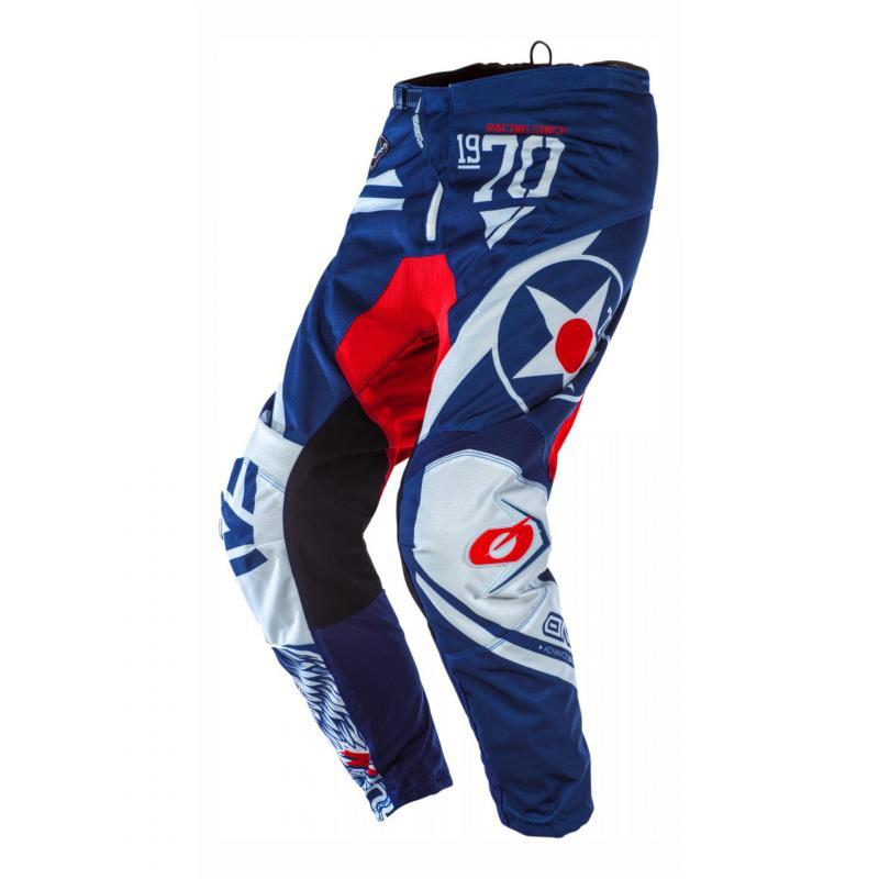 Pantalon cross O'Neal Element Warhawk bleu/rouge