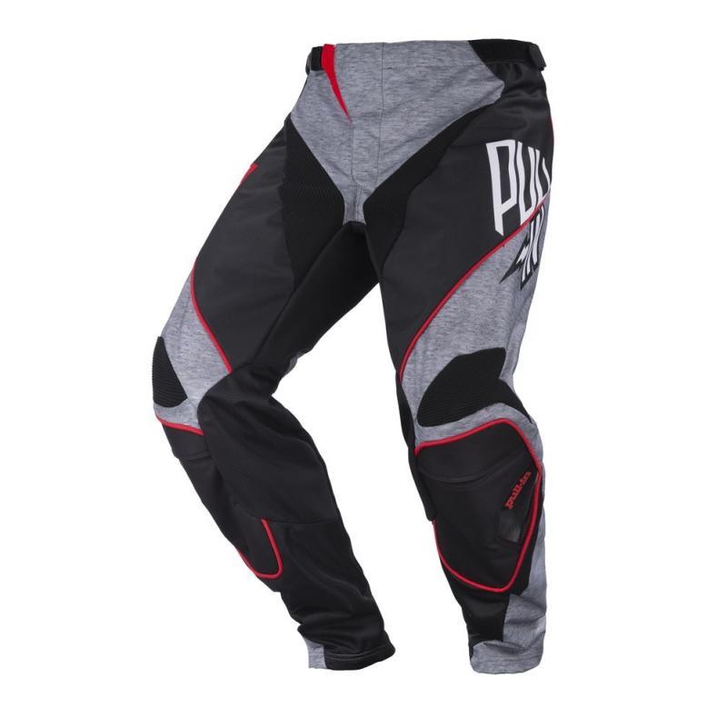 Pantalon cross Pull-in Race gris/noir/rouge