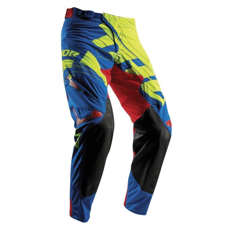 Pantalon cross Thor Prime Fit Paradigm vert/bleu/rouge