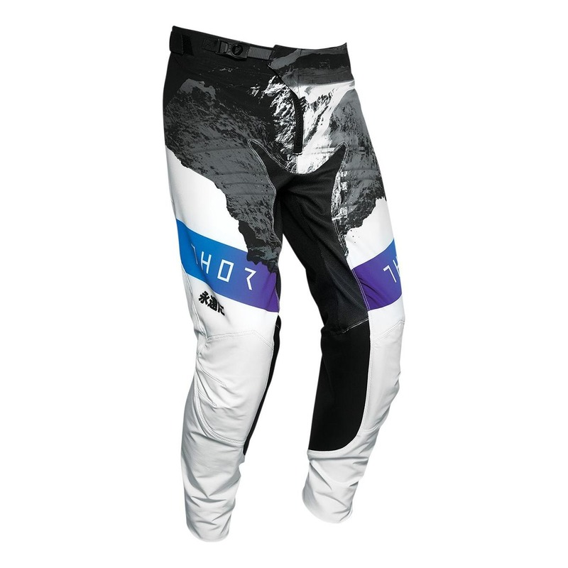 Pantalon cross Thor Prime Pro Mesmer blanc/noir/bleu