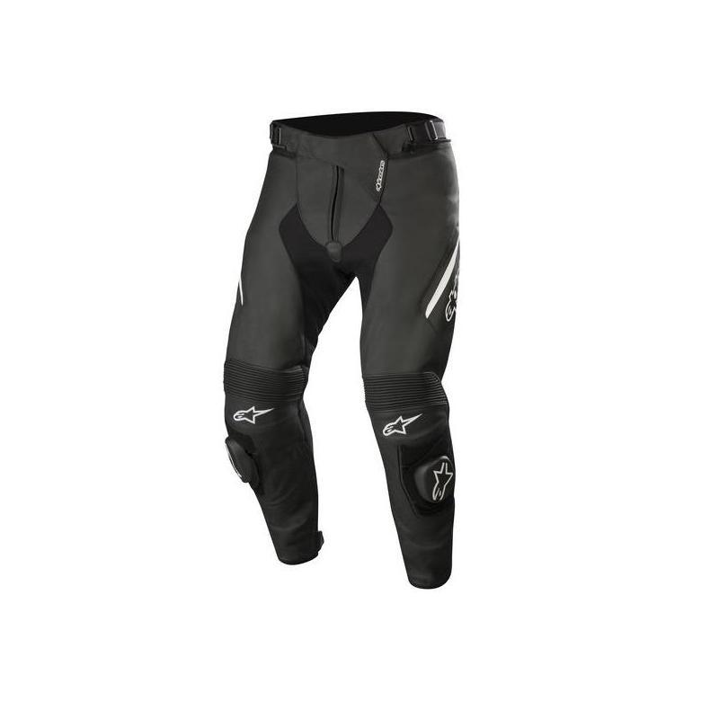 Pantalon cuir Alpinestars Missile V2 noir/blanc