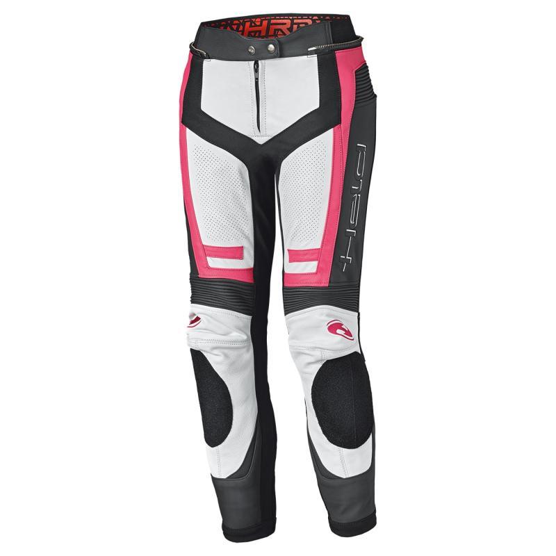 Pantalon cuir femme Held Rocket 3.0 blanc/rose