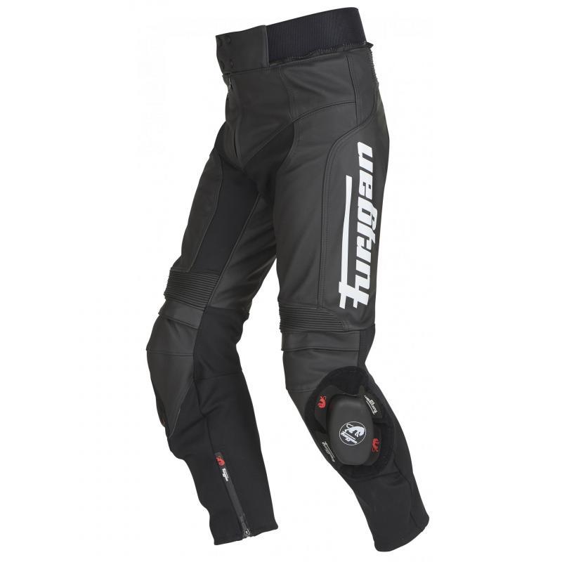 Pantalon cuir Furygan Bud Evo 3 noir/blanc