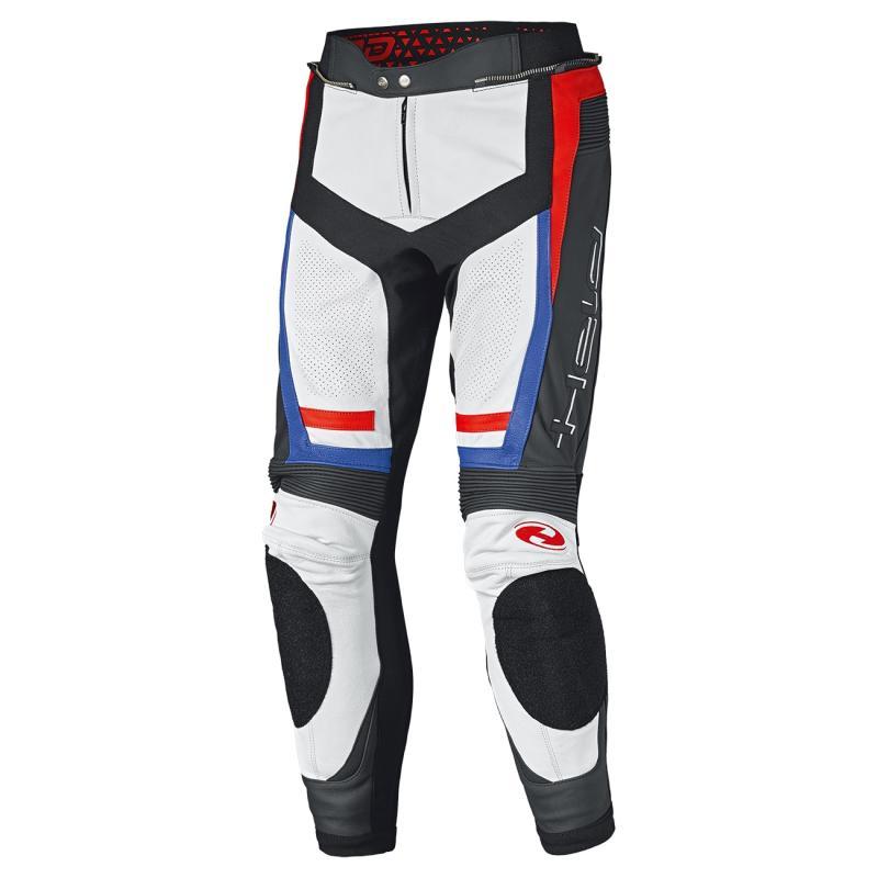 Pantalon cuir Held Rocket 3.0 blanc/rouge/bleu