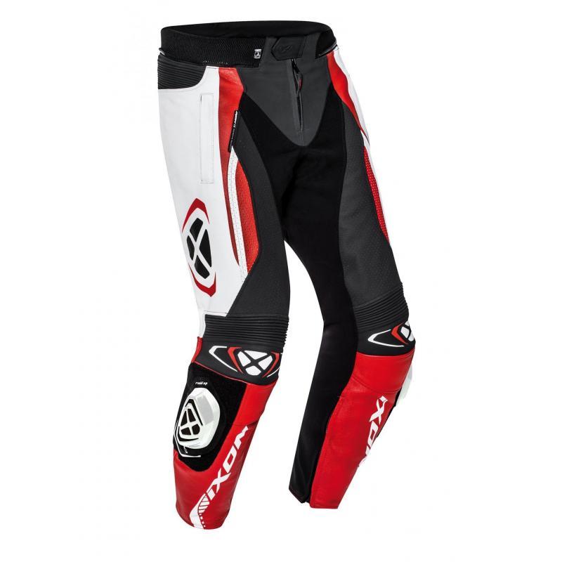 Pantalon cuir Ixon Vortex 2 noir/blanc/rouge