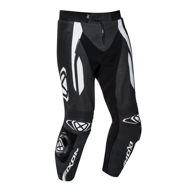 Pantalon cuir Ixon Vortex 2 noir/blanc