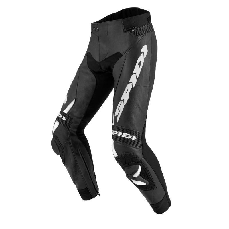 Pantalon cuir Spidi RR Pro 2 noir/blanc