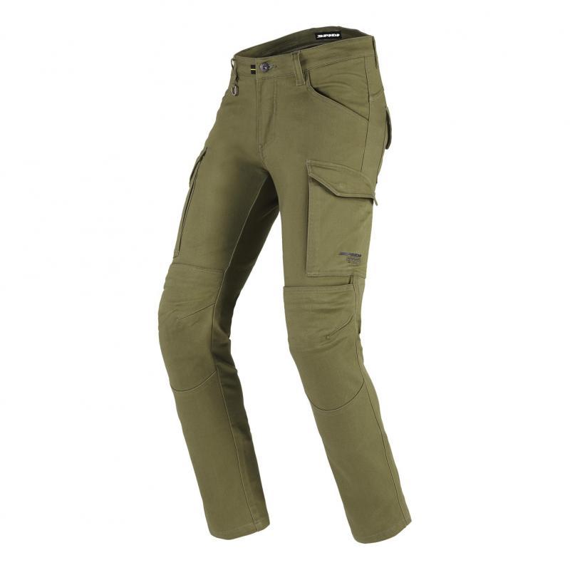 Pantalon textile Spidi Pathfinder Cargo vert militaire