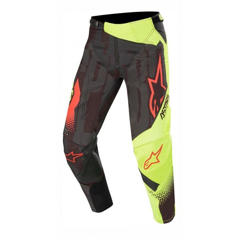 Pantalons cross Alpinestars Techstar Factory noir/jaune fluo/rouge fluo