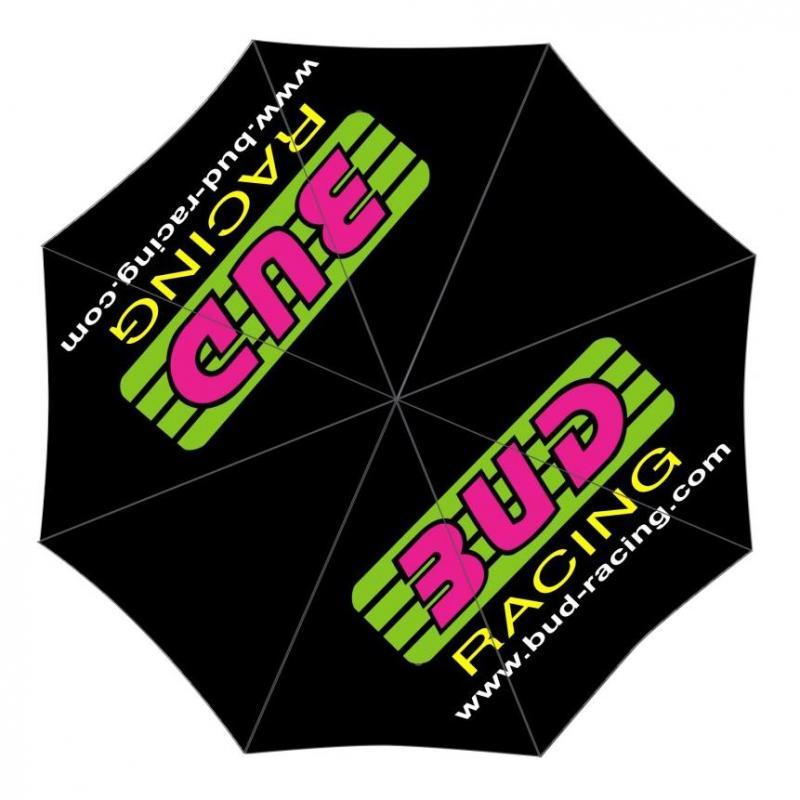 Parapluie Bud Racing Original logo rose/vert