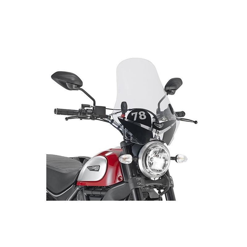 Pare-brise Givi avec sérigraphie Ducati Scrambler 800 15-