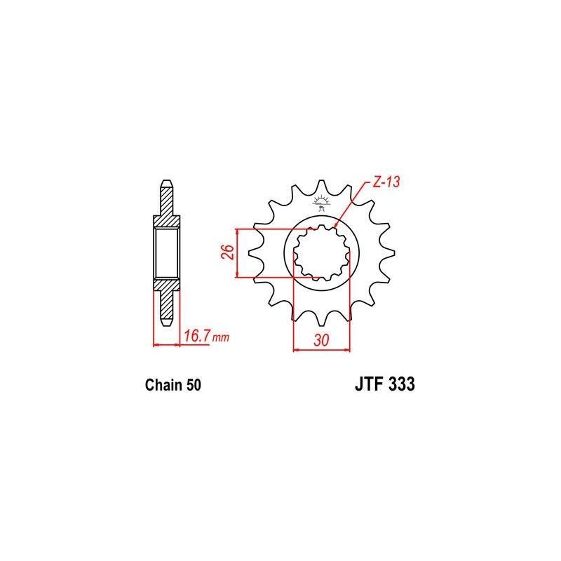 Pignon JT Sprockets Acier pas 630 16 dents - Pour Honda CBR 1000 RR 04-16